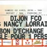Contre marque déplacement Dijon-Nancy - Saison 2015-2016 - L2 (32e j., 02:04:2016)