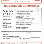 Jeu concours Nancy Bastia
