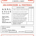 Jeu concours Nancy Lille