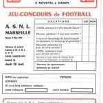 Jeu concours Nancy Marseille