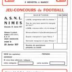 Jeu concours Nancy Nîmes