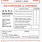 Jeu concours Nancy Rennes