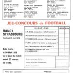 Jeu concours Nancy Strasbourg