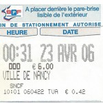 Ticket parking gare finale de la Coupe de la Ligue