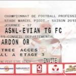 Billet  Nancy Evian TG FC - Saison 2015-2016 - L2 (37e j 06-05-2016)