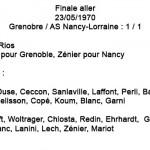 Finale ASNL - Grenoble