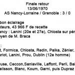 Finale  retour ASNL - Grenoble