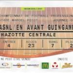 Billet Nancy Guingamp Saison 2016-2017 L1 3ej 27-08-2016