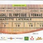 Billet Nancy Lyon Saison 2016-2017 L1 1ej 14-08-2016