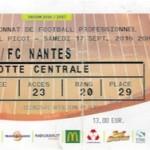 Billet Nancy Nantes Saison 2016-2017 L1 5ej 17-08-2016
