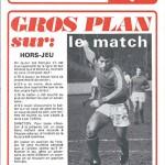 Programme saison 1973 1974 Nancy Nice 19-04-74