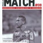 Feuille de match saison 2016-2017 Journée n°08 Metz