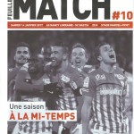 Feuille de match saison 2016-2017 Journée n°10 Bastia