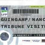 Billet Guingamp Nancy Saison 2016-2017 L1 31ej 31-03-2017