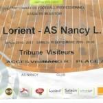 Billet Lorient Nancy  Saison 2016-2017 L1 4ej 10-09-2016