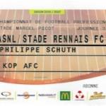 Billet Nancy Rennes Saison 2016-2017 L1 32ej 08-04-2017