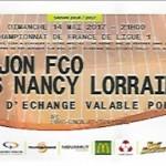 Billet Dijon Nancy Saison 2016-2017 L1 37ej 14-05-2017