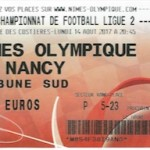 Billet Nîmes Nancy  14 08 2017 3eme journée