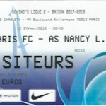 Billet Paris FC Nancy 04 05 2018 37eme journée
