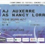 Billet Auxerre Nancy 17 08 2018 4eme journée